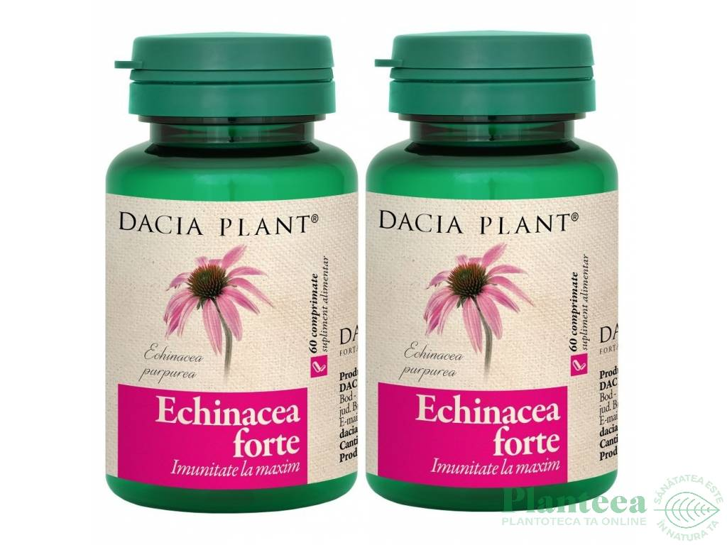 Pachet Echinaceea forte {1+1} 60cp - DACIA PLANT