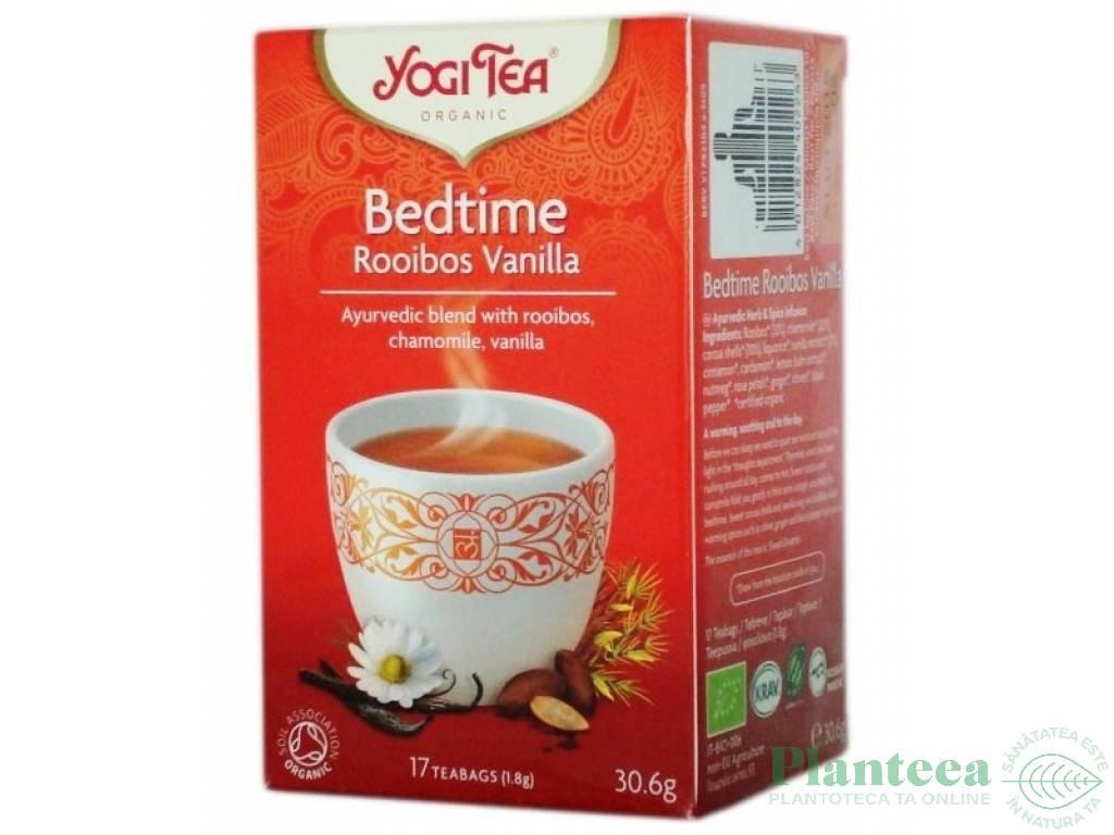 Ceai seara rooibos vanilie 17dz - YOGI TEA
