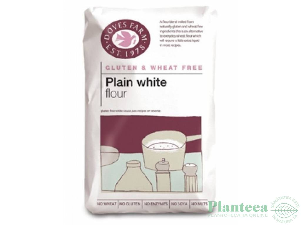 Faina amestec alba fara gluten simpla 1kg - DOVES FARM