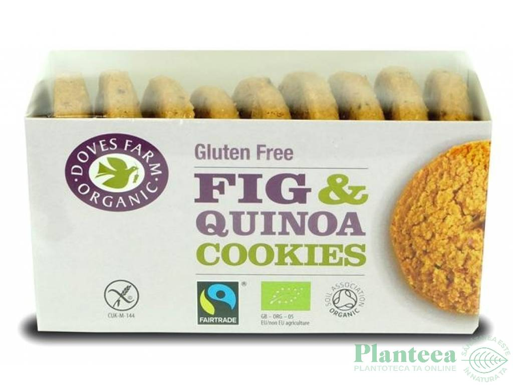 Biscuiti quinoa smochine fara gluten 150g - DOVES FARM