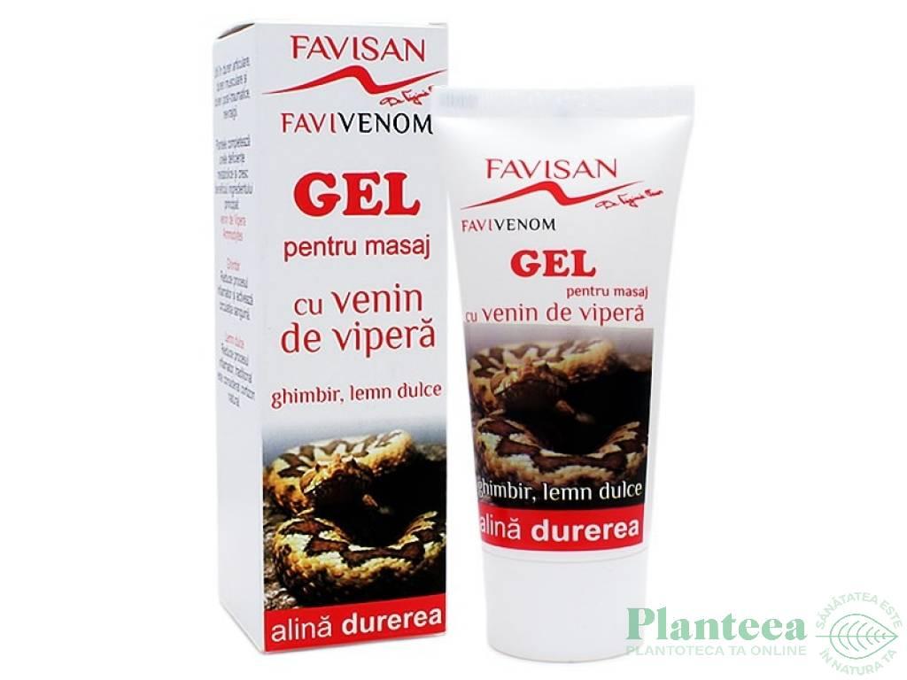 Gel masaj cu Venin de vipera Favivenom 50 ml » Pret 36,90Lei • Puterea Plantelor