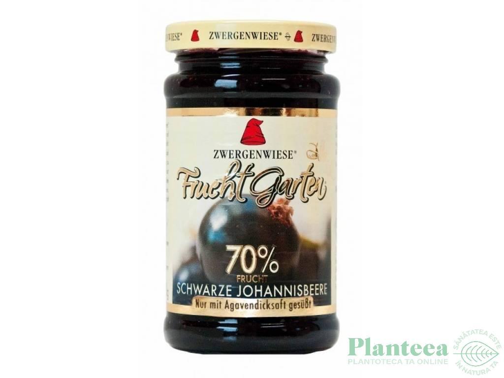 Gem coacaze negre 70%fruct fara zahar 225g - ZWERGENWIESE