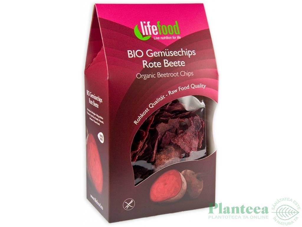 Chipsuri sfecla fara gluten raw bio 60g - LIFEFOOD