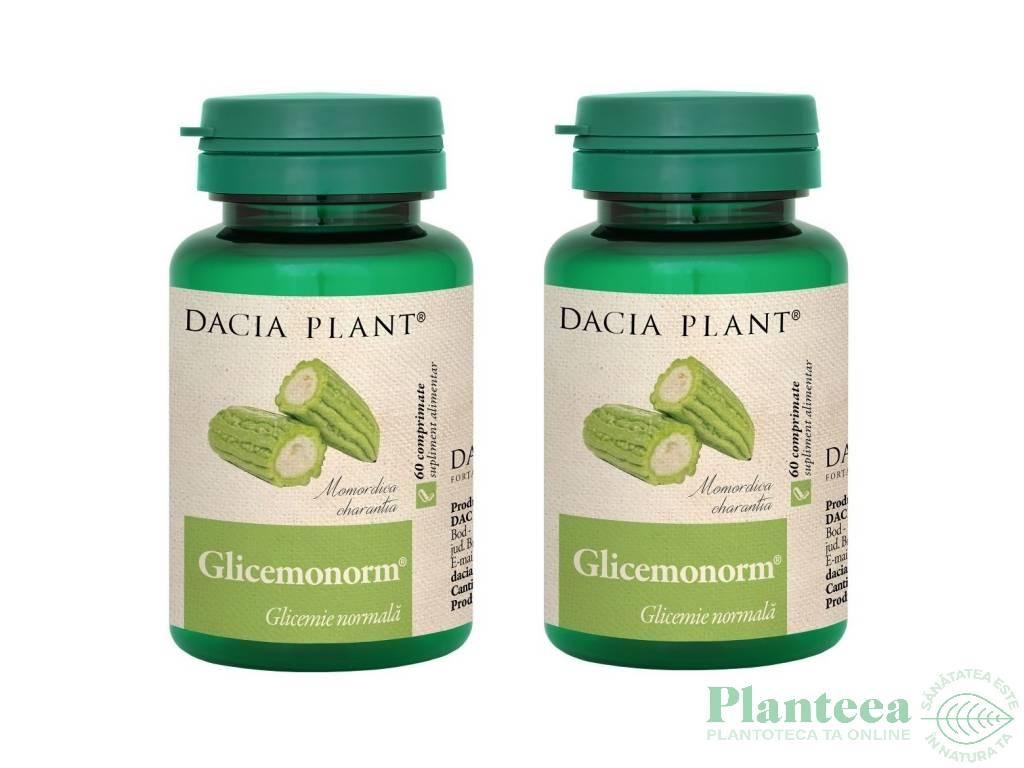 Pachet Glicemonorm {1+1} 60cp - DACIA PLANT