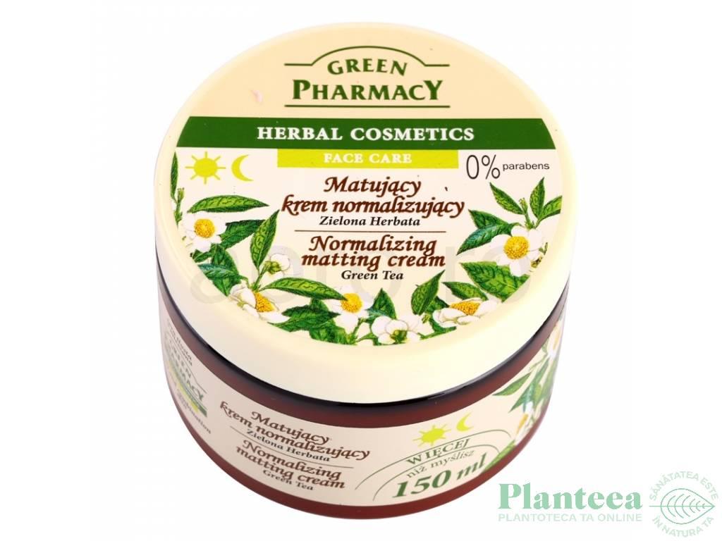Crema fata echilibranta matifianta ceai verde 150ml - GREEN PHARMACY