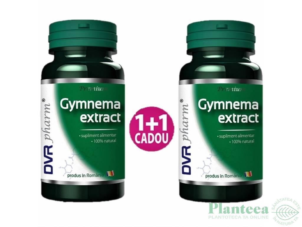 Pachet Gymnema extract {1+1} 60cps - DVR PHARM