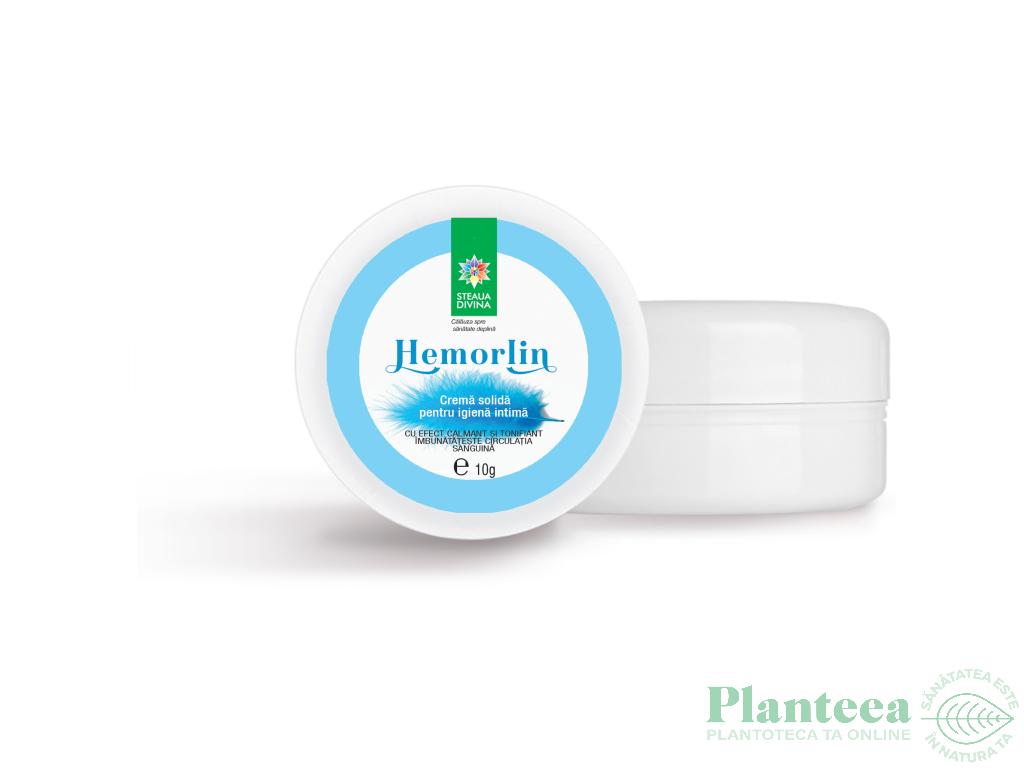 Crema solida igiena intima Hemorlin 10g - SANTO RAPHAEL