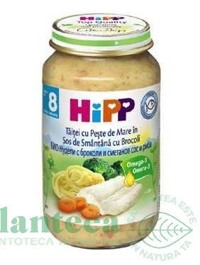 Mancarica taitei peste marin broccoli cremos bebe +8luni 220g - HIPP ORGANIC