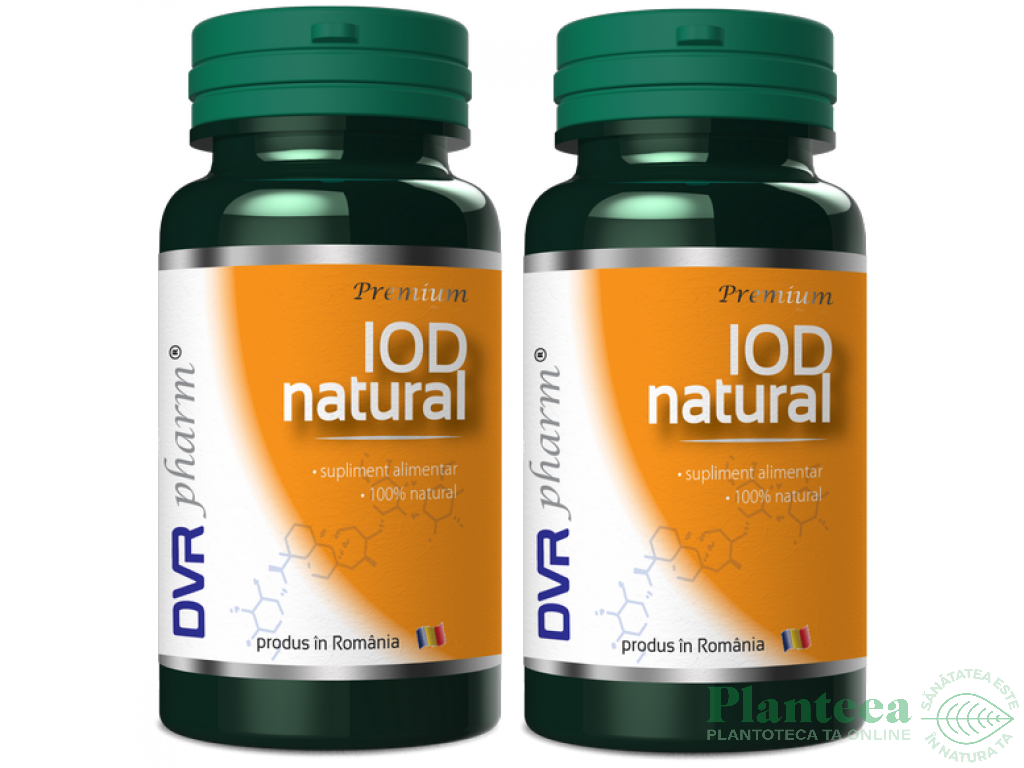 Pachet Iod natural 60+30cps - DVR PHARM