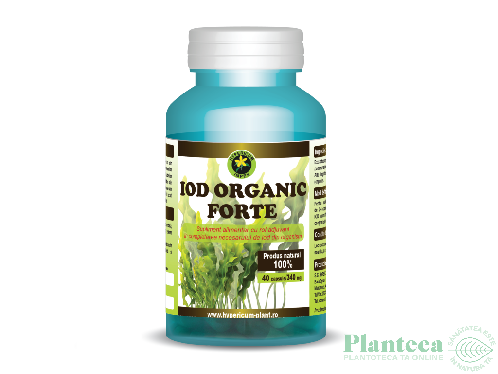 Iod organic forte 40cps - HYPERICUM PLANT