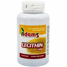 Lecitina 1200mg 60cps - ADAMS