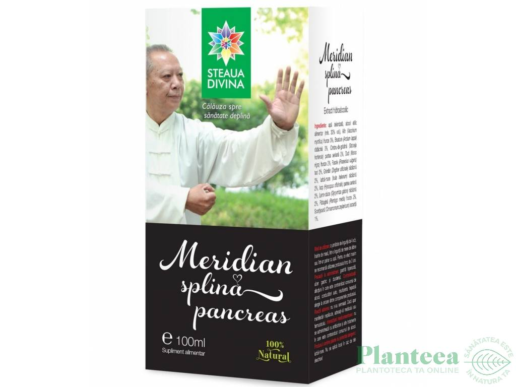 Meridian splina pancreas 100ml - SANTO RAPHAEL