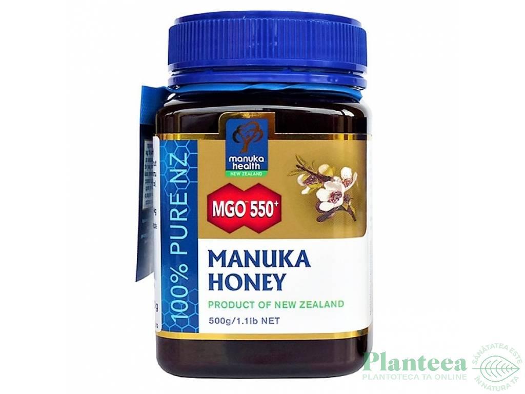 Miere Manuka mgo550+ New Zealand 500g - MANUKA HEALTH