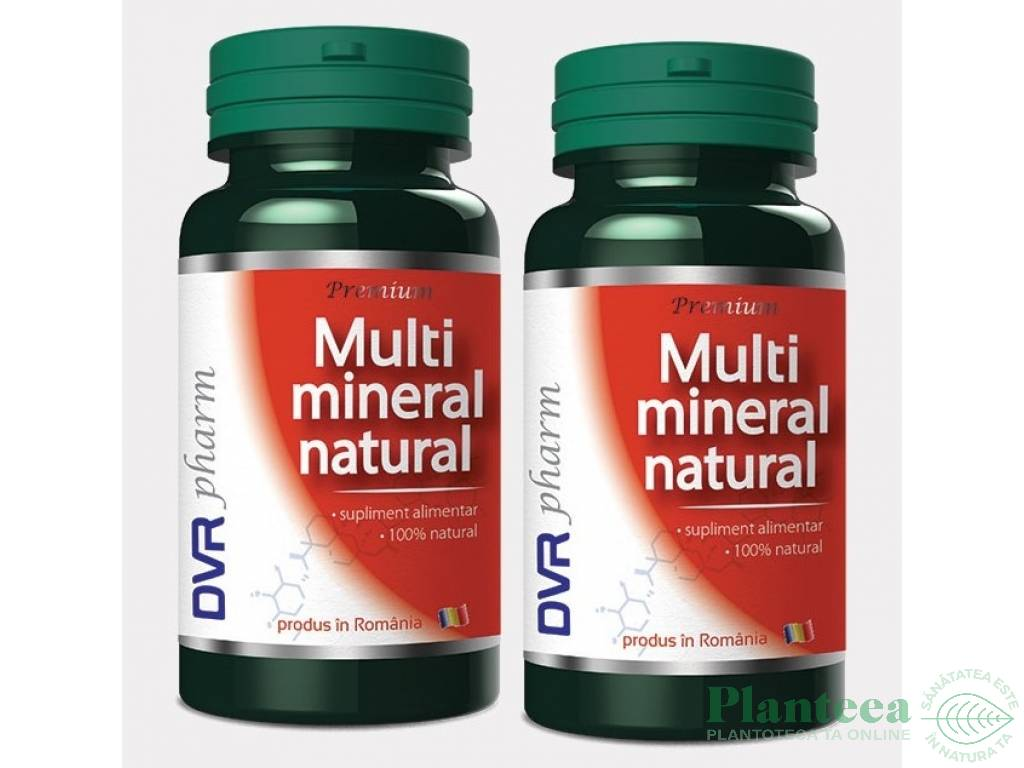 Pachet Multimineral natural 60+30cps - DVR PHARM