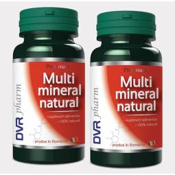 Pachet Multimineral natural 60+30cps - DVR PHARM