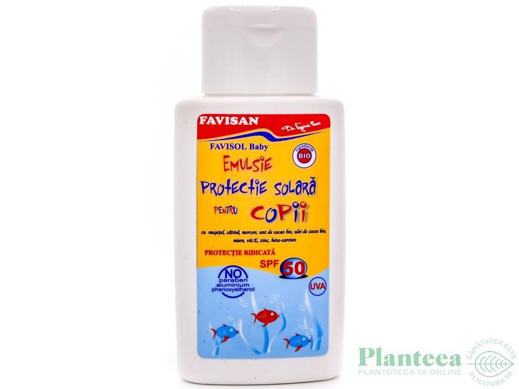 Emulsie protectie solara copii spf50 FaviSol 150ml - FAVISAN