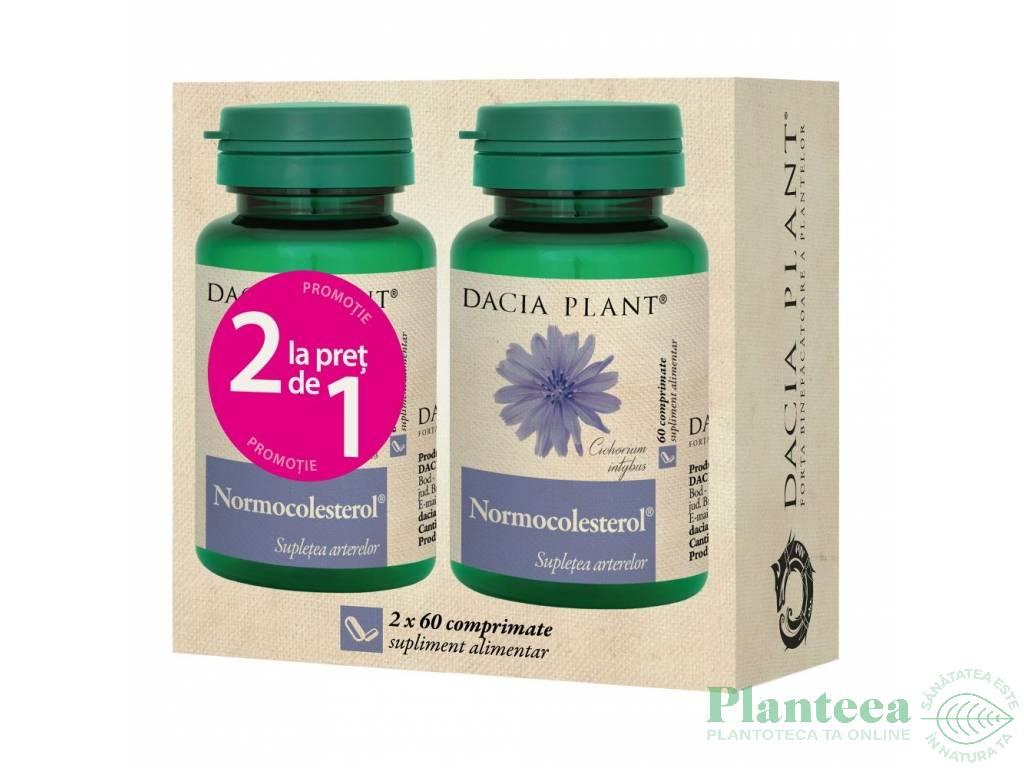 Pachet Normocolesterol {1+1} 60cp - DACIA PLANT