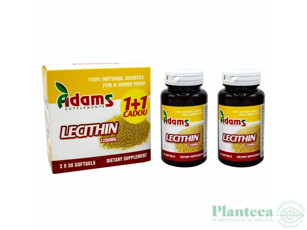 Pachet Lecitina 1200mg {1+1} 30cps - ADAMS