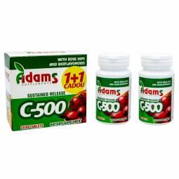Pachet Vitamina C 500mg macese {1+1} 30cp - ADAMS