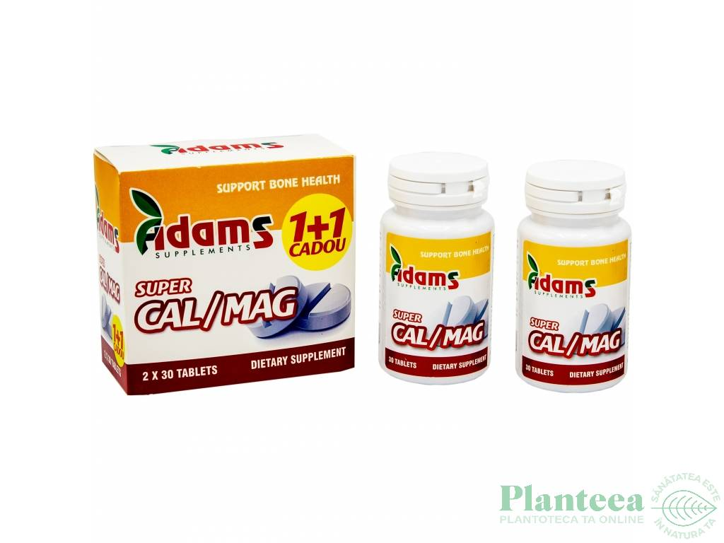 Pachet Super Calciu Mg {1+1} 30cp - ADAMS