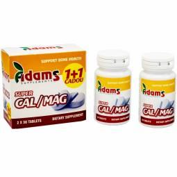 Pachet Super Calciu Mg {1+1} 30cp - ADAMS