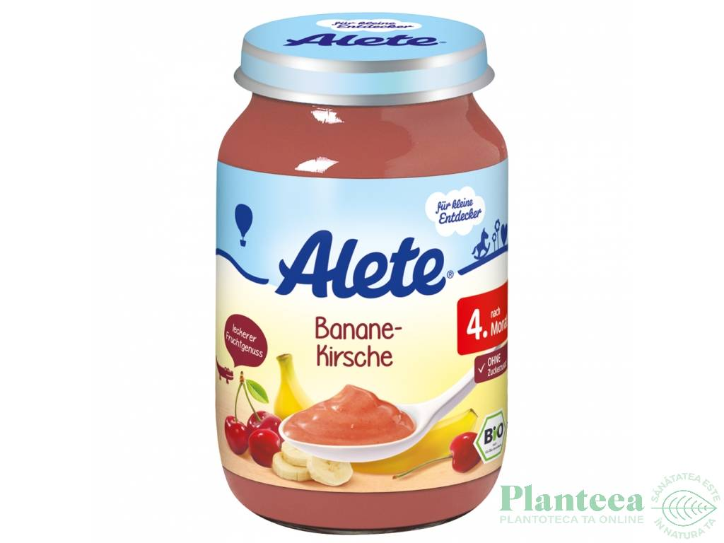 Piure banane cirese bebe +4luni fara gluten 125g - ALETE