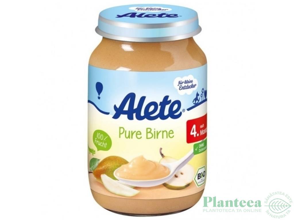 Piure pere bebe +4luni fara gluten 125g - ALETE