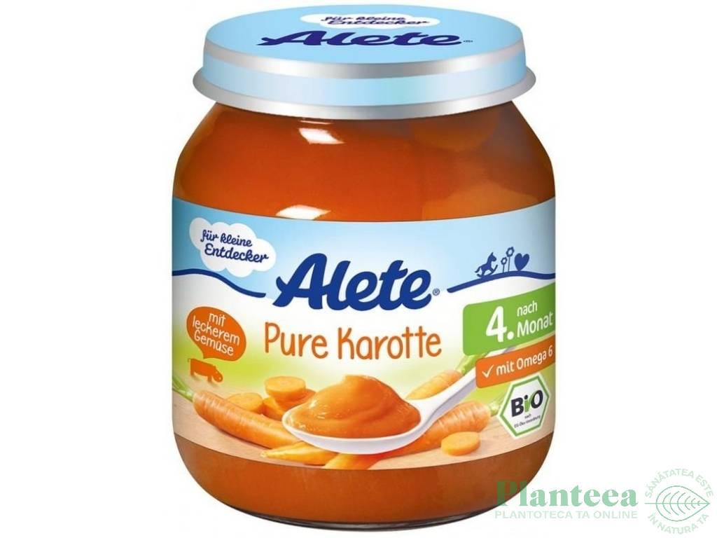 Piure morcovi bebe +4luni fara gluten 125g - ALETE