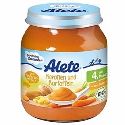 Piure morcovi cartofi bebe +4luni fara gluten 125g - ALETE
