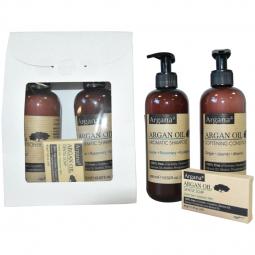 Set Cadou [sampon 400ml+balsam par 400ml+sapun argana 40g] 3b - AZBANE