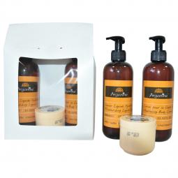Set Cadou [lotiune arganine 400ml+sapun lichid arganine 400ml+crema nagoya 100ml] 3b - AZBANE