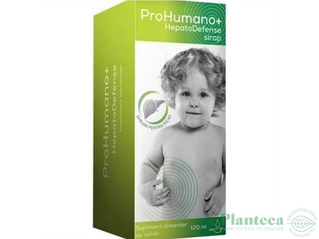Sirop copii HepatoDefense ProHumano+ 120ml - PHARMA LINEA