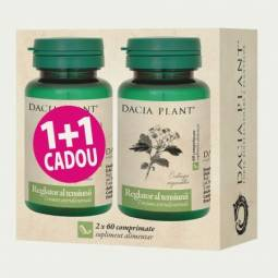 Pachet HerboTensin [Reglator tensiune] {1+1} 60cp - DACIA PLANT