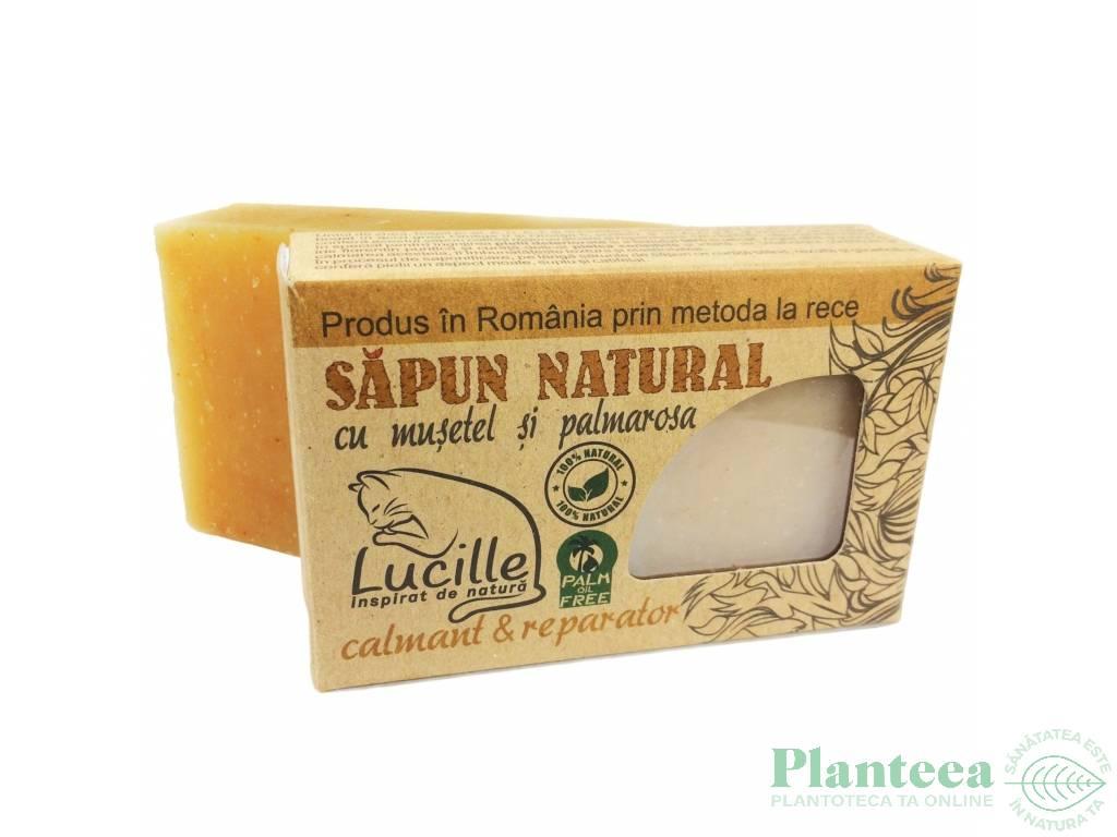 Sapun natural musetel palmarosa Lucille 90g - BLISS HERBAL
