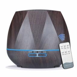 Difuzor ultrasonic aromaterapie silentios maro inchis 400ml - YCTA