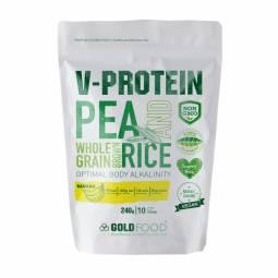 Pulbere proteica vegana V Protein banane 240g - GOLD NUTRITION