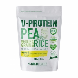 Pulbere proteica vegana V Protein banane 240g - GOLD NUTRITION