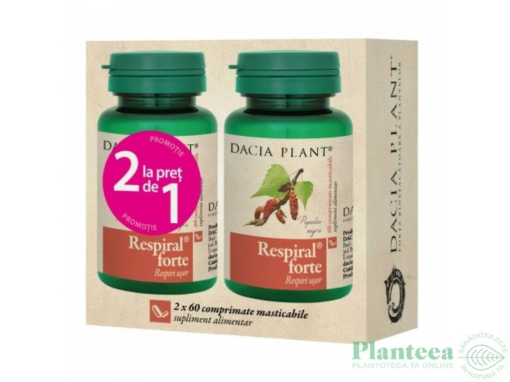 Pachet Respiral forte {1+1} 60cp - DACIA PLANT
