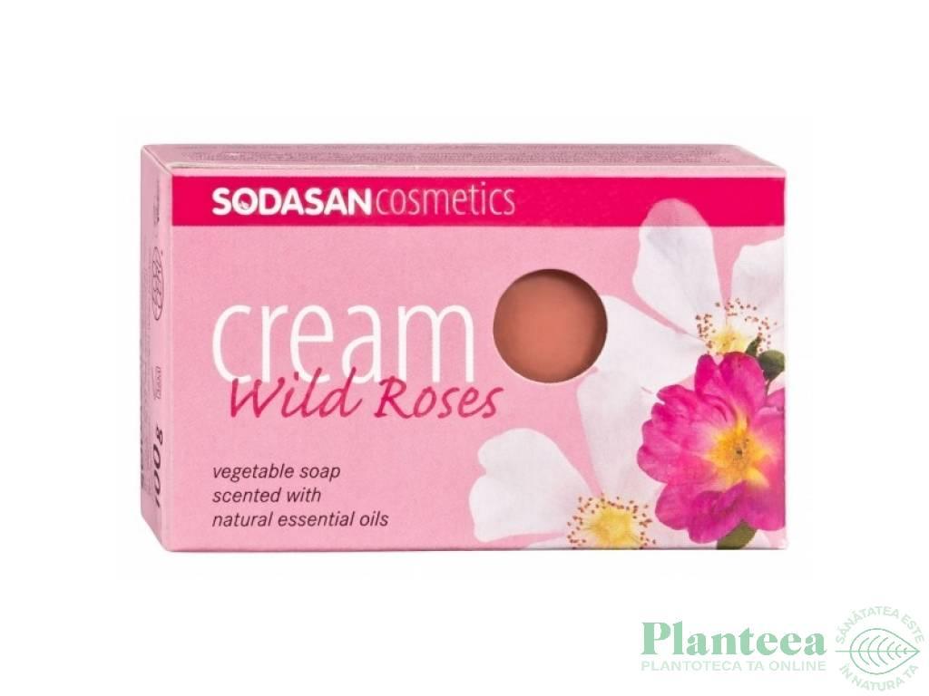 Sapun cremos trandafir salbatic 100g - SODASAN