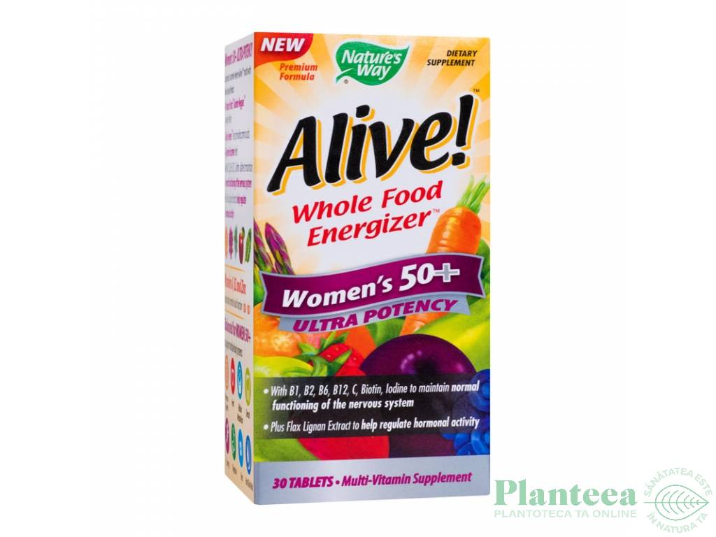 Alive multivitamine women`s 50+ ultra 30cp - NATURES WAY