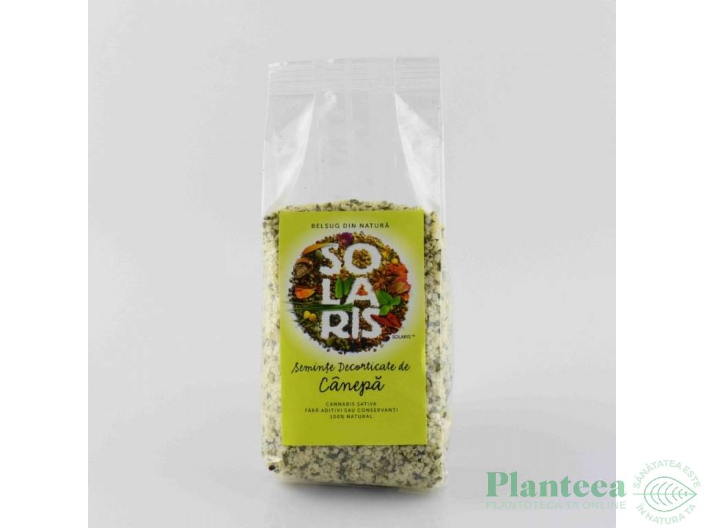 Seminte canepa decorticate 150g - SOLARIS PLANT
