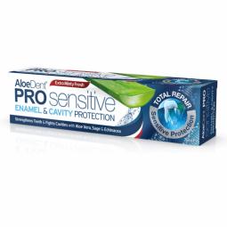 Pasta dinti protectie smalt cavitate bucala ProSensitive AloeDent 75ml - OPTIMA HEALTH