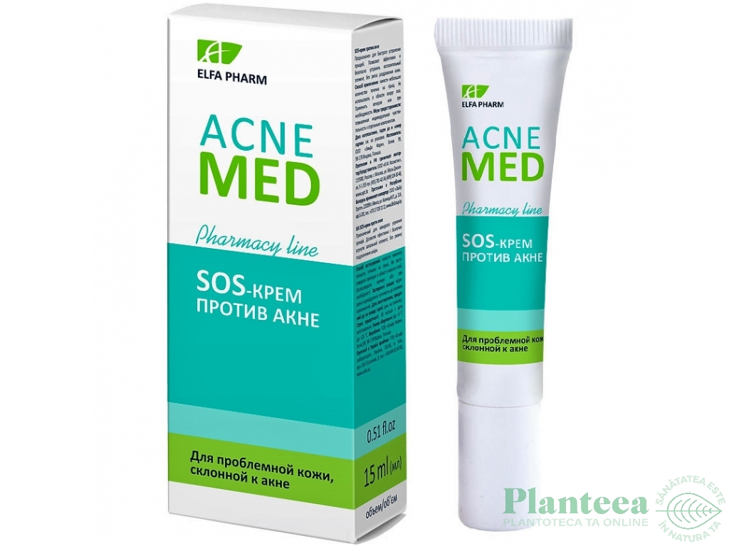 Crema antiacnee probleme ten tendinta acneica SOS AcneMed 15ml - ELFA PHARM