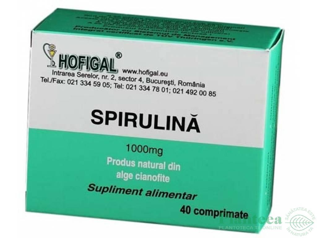 Spirulina 1000mg cutie 40cp - HOFIGAL