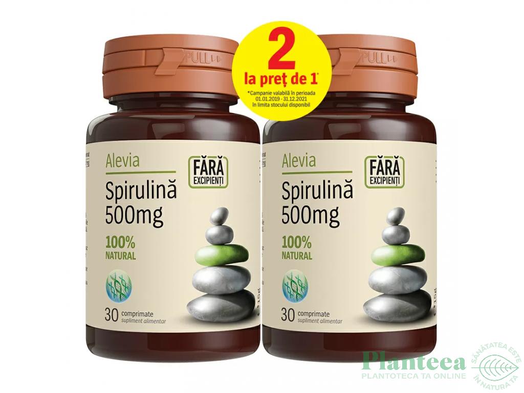 Pachet Spirulina 500mg {1+1} 30cp - ALEVIA