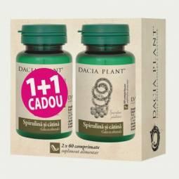 Pachet Spirulina catina {1+1} 60cp - DACIA PLANT