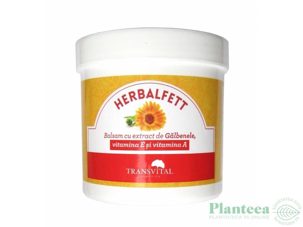 Balsam galbenele vitamine E A Herbalfett 250ml - TRANSVITAL