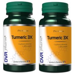 Pachet Turmeric 3X 60+30cps - DVR PHARM