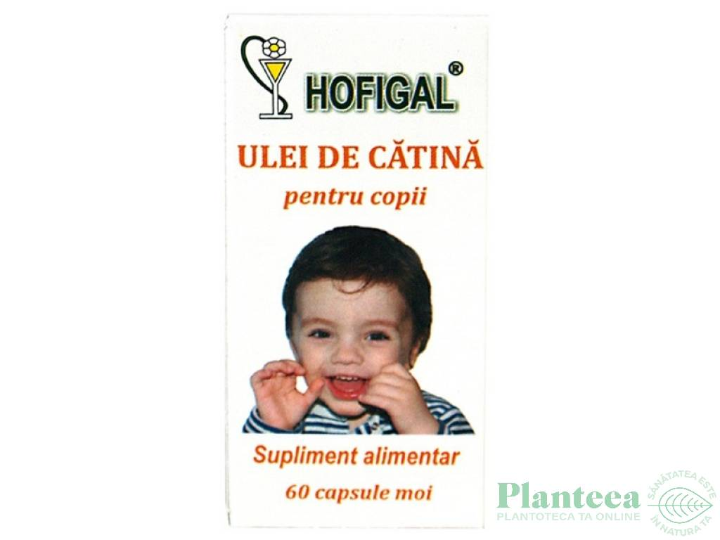 Ulei catina copii 600mg 60cps - HOFIGAL