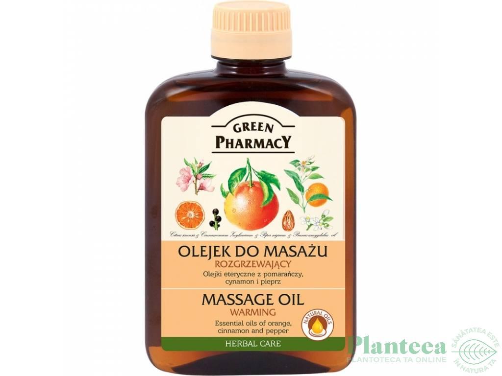 Ulei masaj incalzitor 200ml - GREEN PHARMACY